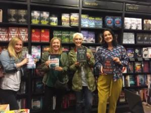 With fantastic authors: Karen Hamilton, CJ Tudor and Phoebe Locke